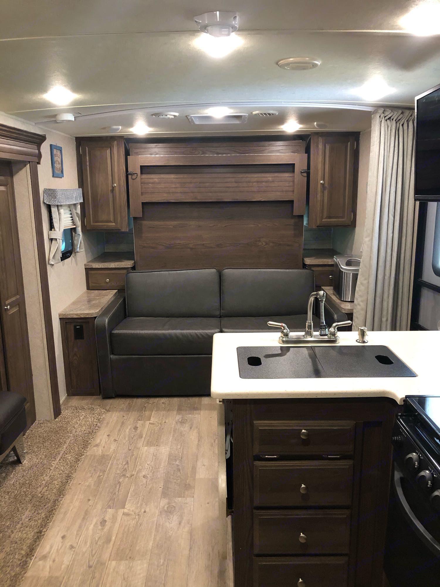 Murphy bed - up. Forest River Rockwood Mini Lite 2018