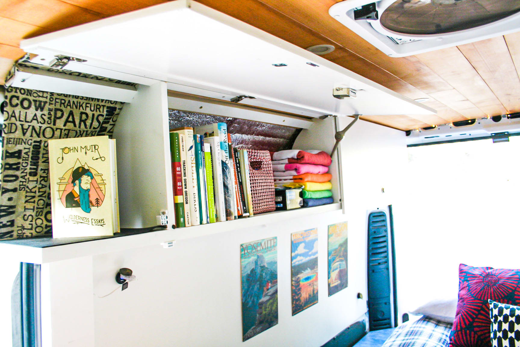 Books, games and a little John Muir to keep you company.  . Dodge ProMaster 2018
