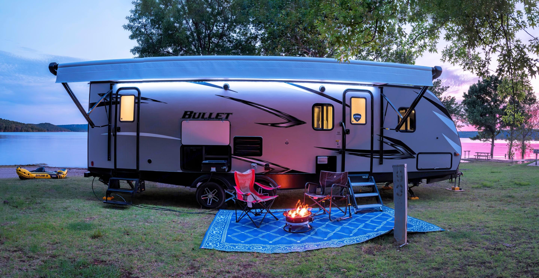 Outside living space.. Keystone 290 BHS Bullet 2020