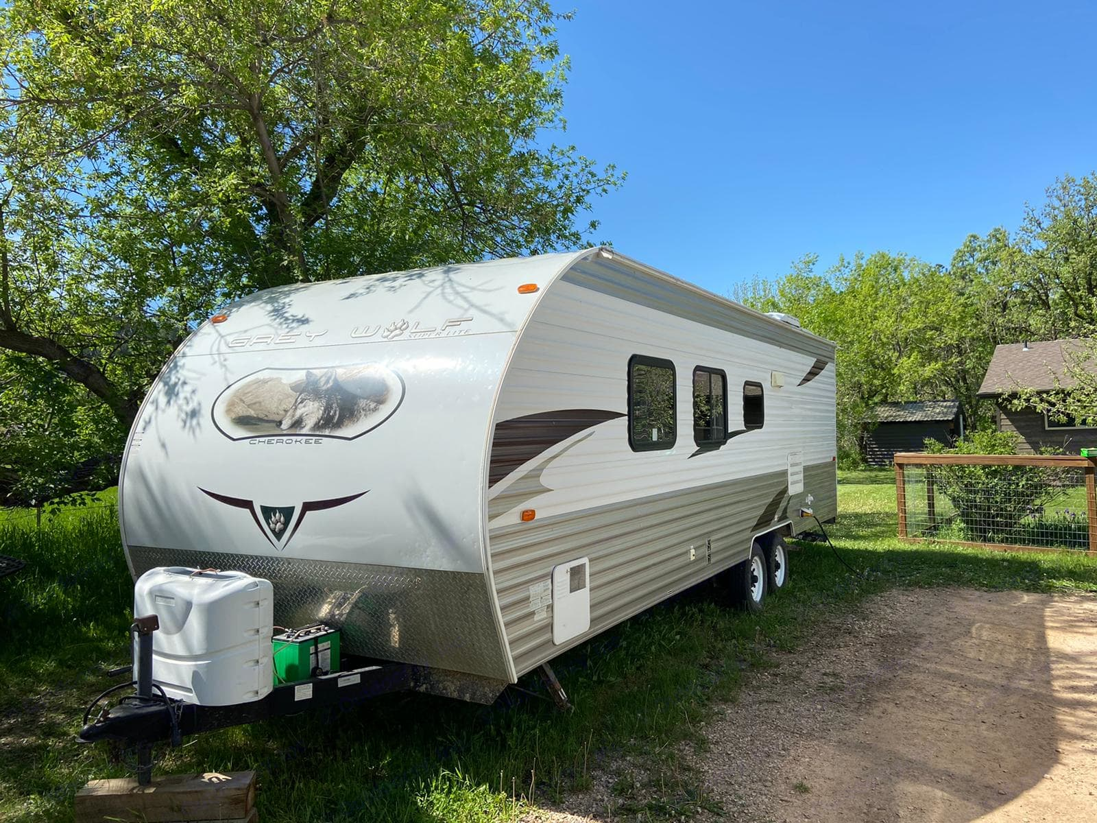 Outside of camper driver side. Forest River Cherokee Grey Wolf 2011