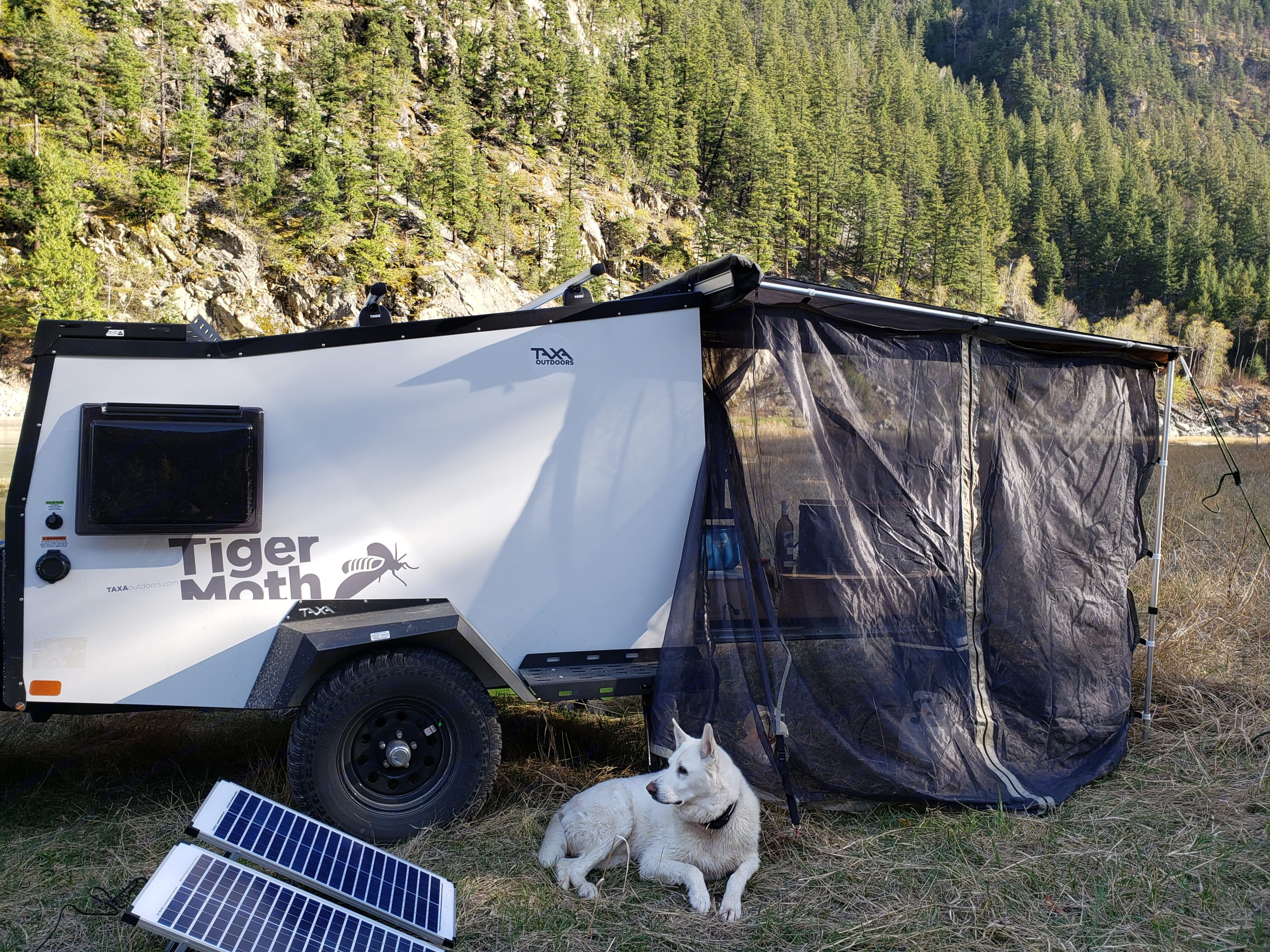 Runs off-grid for about a week, and you can supplement your usage with our solar panels.. TAXA Outdoors Tigermoth Camper 2020