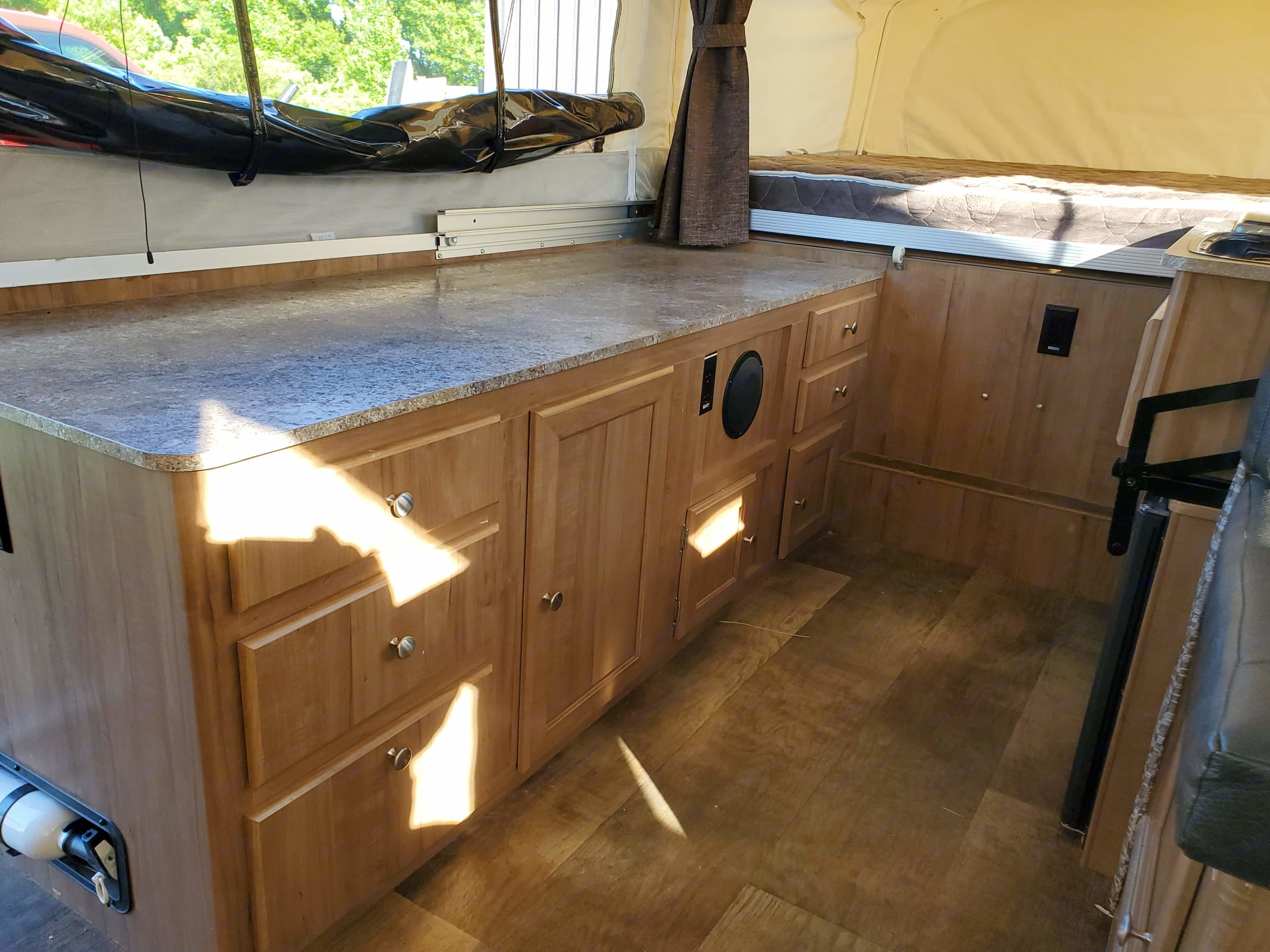 Plenty of storage and counter space. Forest River Rockwood Premier 2017