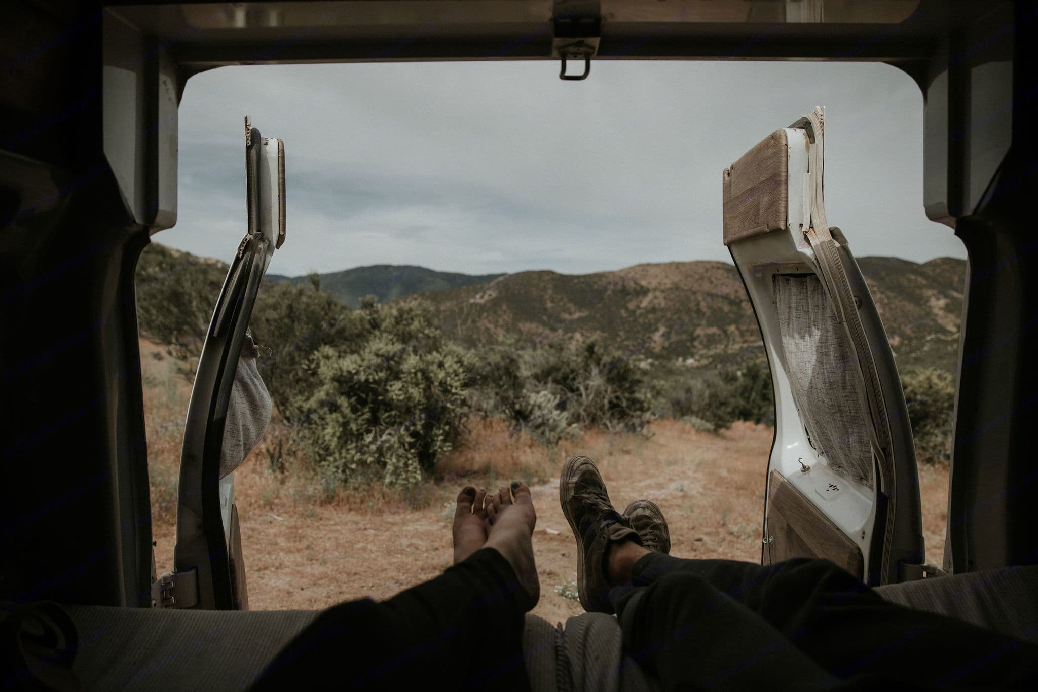 Rear doors open giving you a chance to enjoy the view while you relax!. Ford E-250 Custom Camper 2006