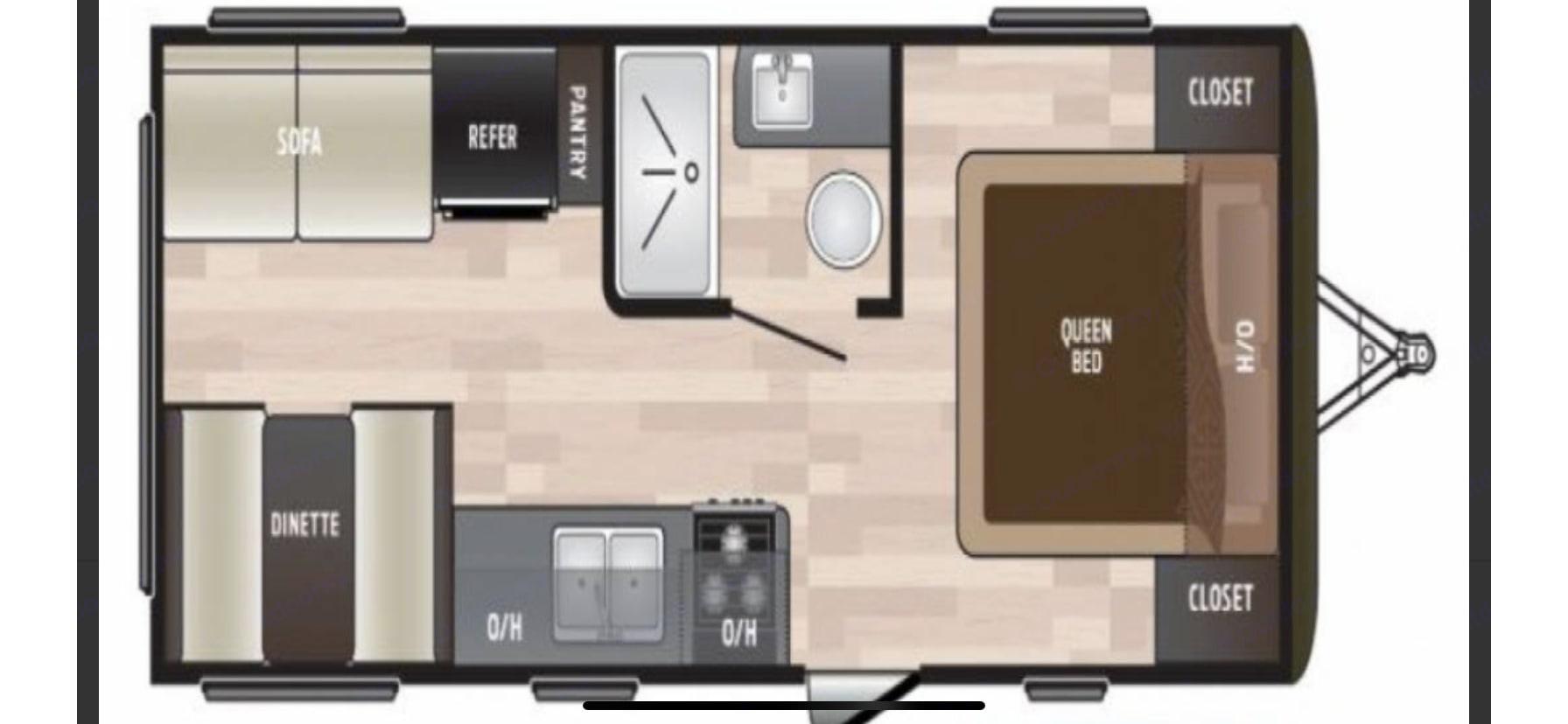 Floor plan. Keystone Hideout 2020