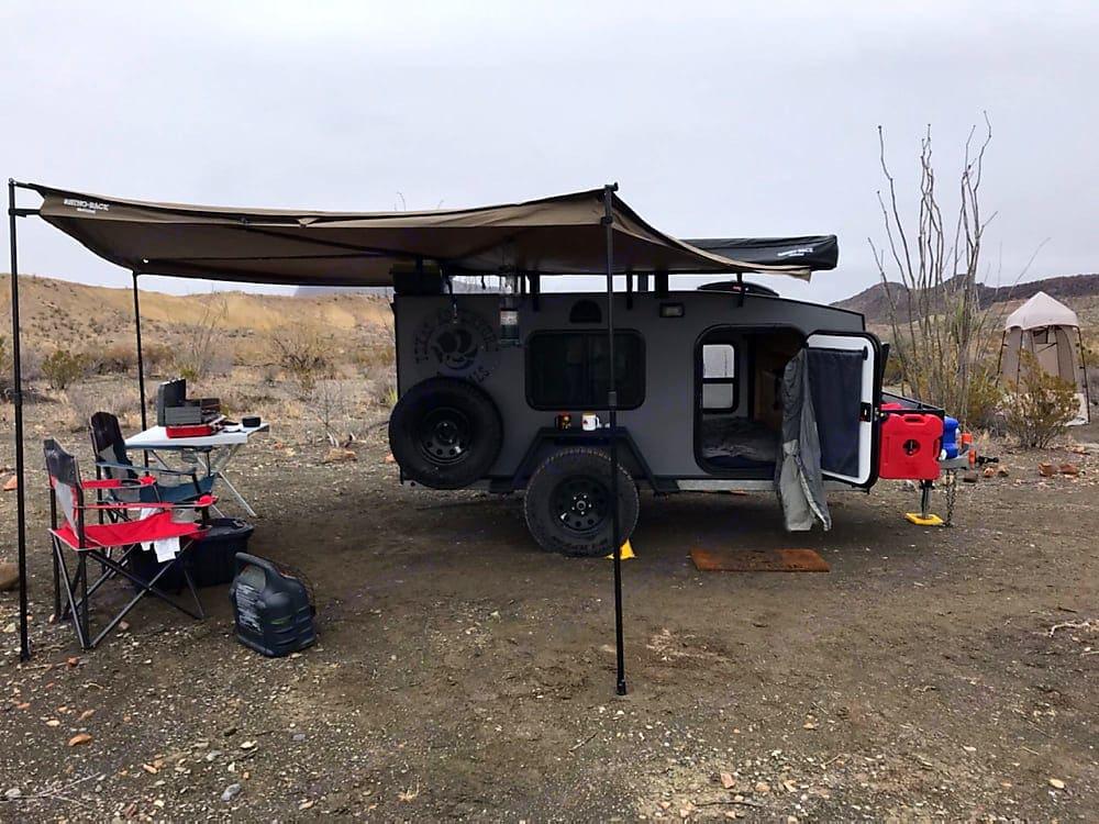 Off the grid camping in Big Bend.. Escapade Camper Summit 2018