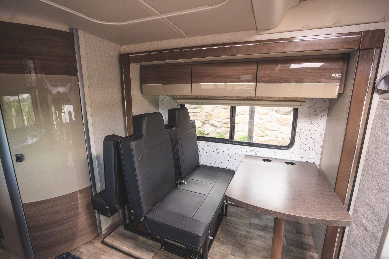 Rear passenger seating. Winnebago Navion 2018