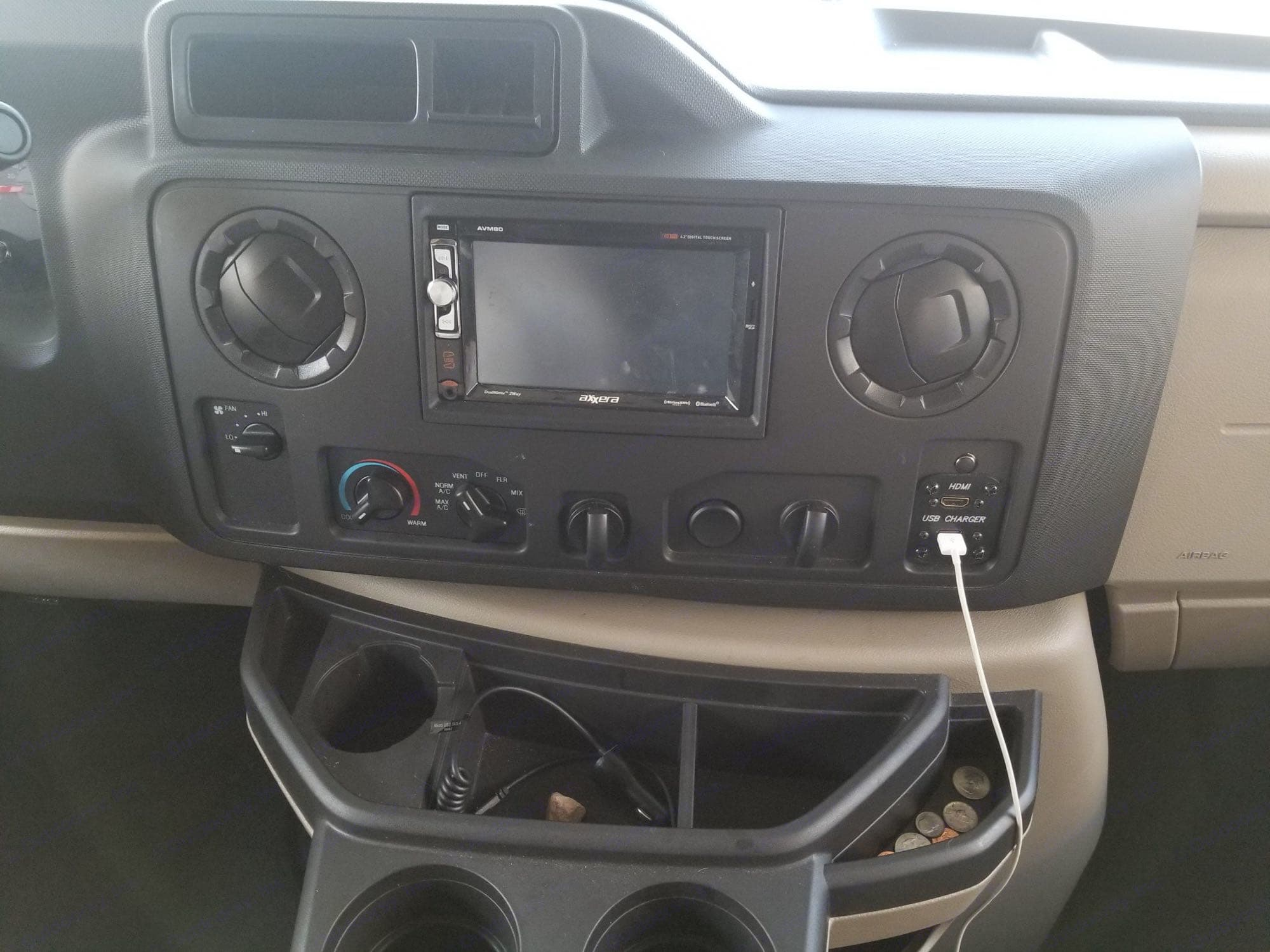 back up camera. radio with bt. chargers. now includes power inverter for  additional charging and power use capabilities while traveling. Thor Motor Coach Four Winds 2019