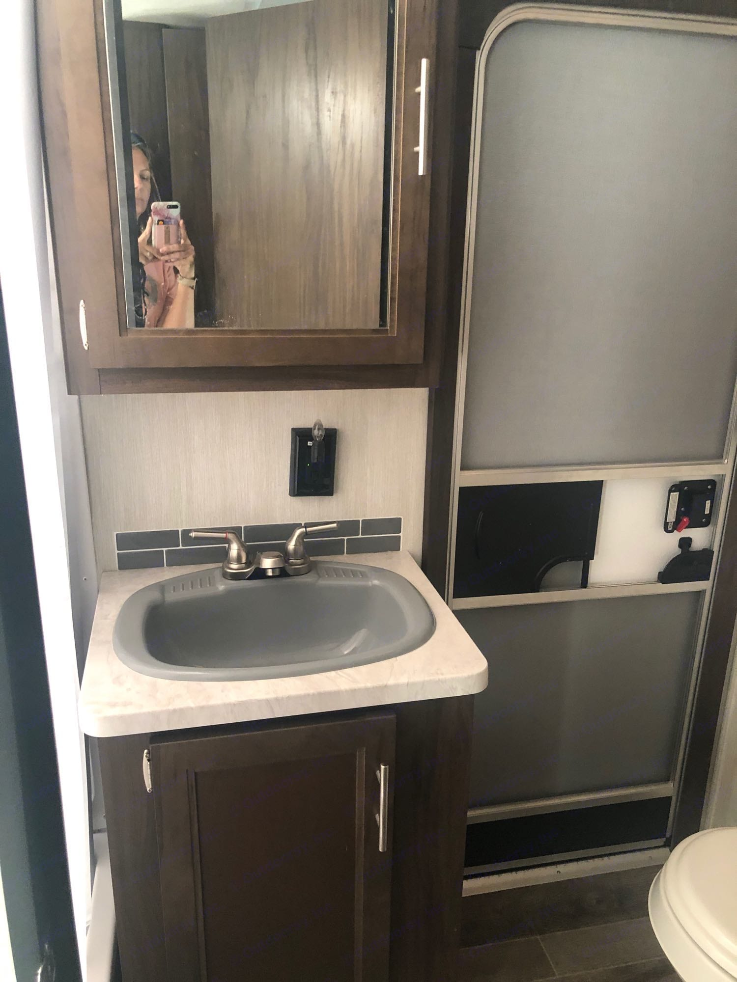 Bathroom sink. Forest River Cherokee 2019