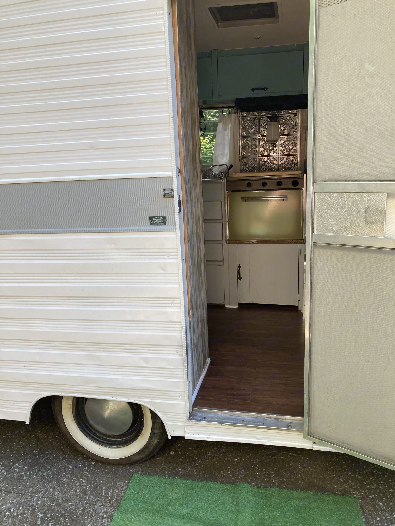 Step into our little oasis. Shasta Airflyte 1968