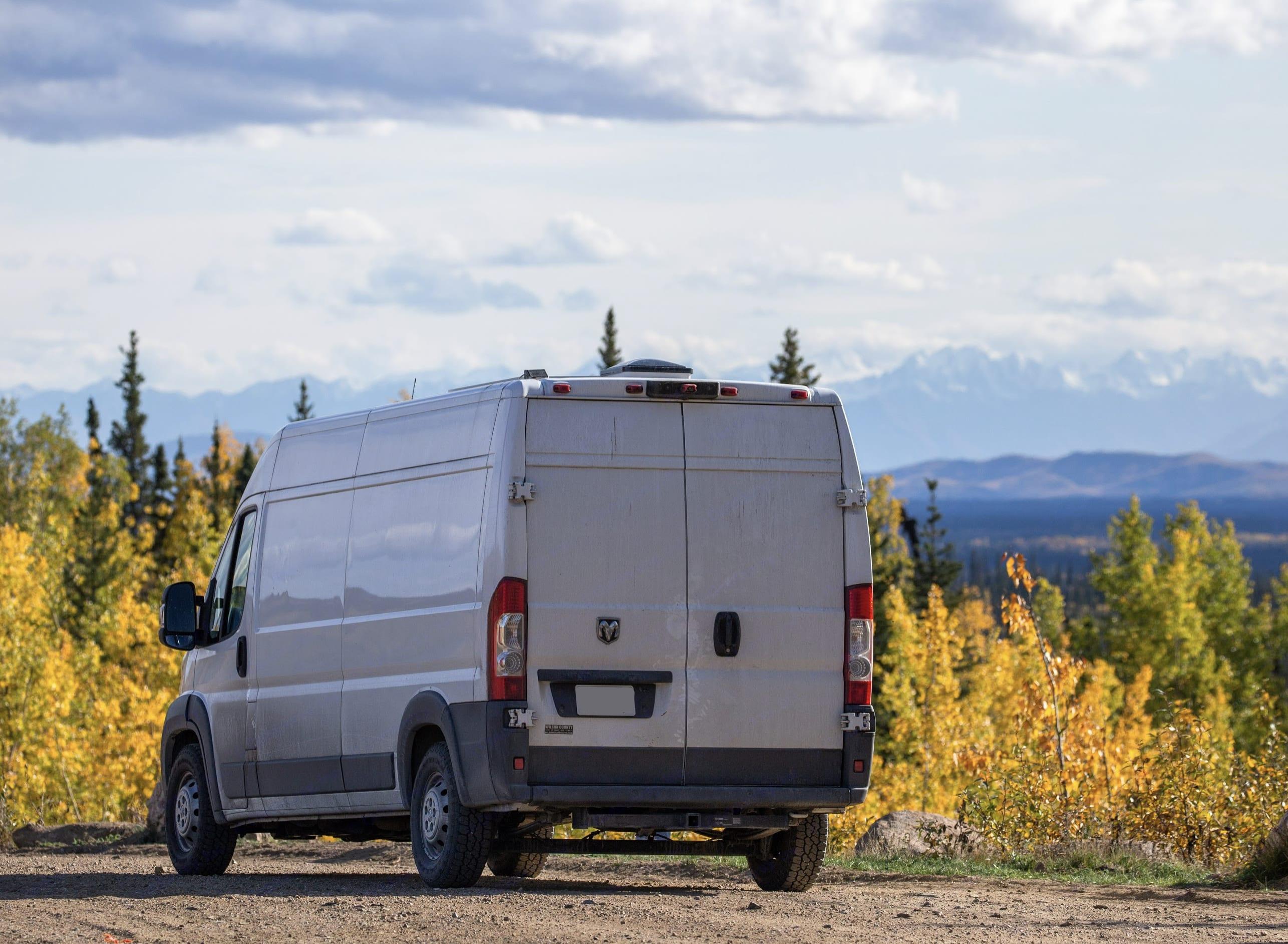 On scene in Alaska!. Dodge B Van 2017