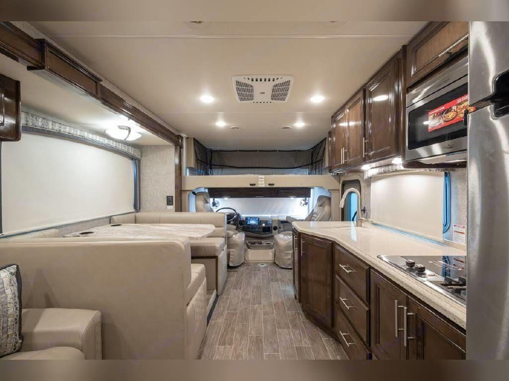 Exact Interior except Black/gray furniture. Thor Motor Coach Miramar 2020