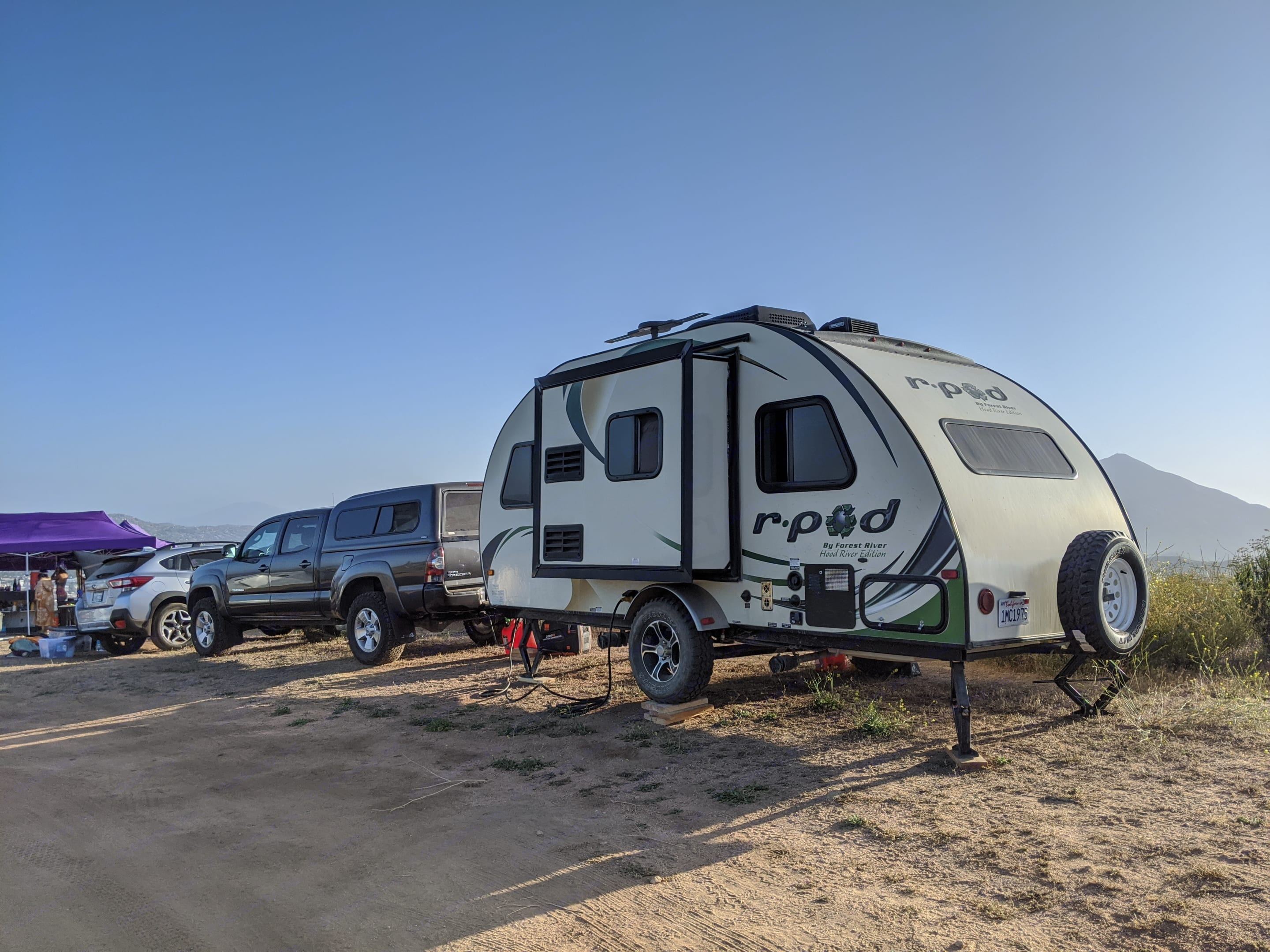 Primitive camping in San Diego County.. Forest River R-Pod 178 2014