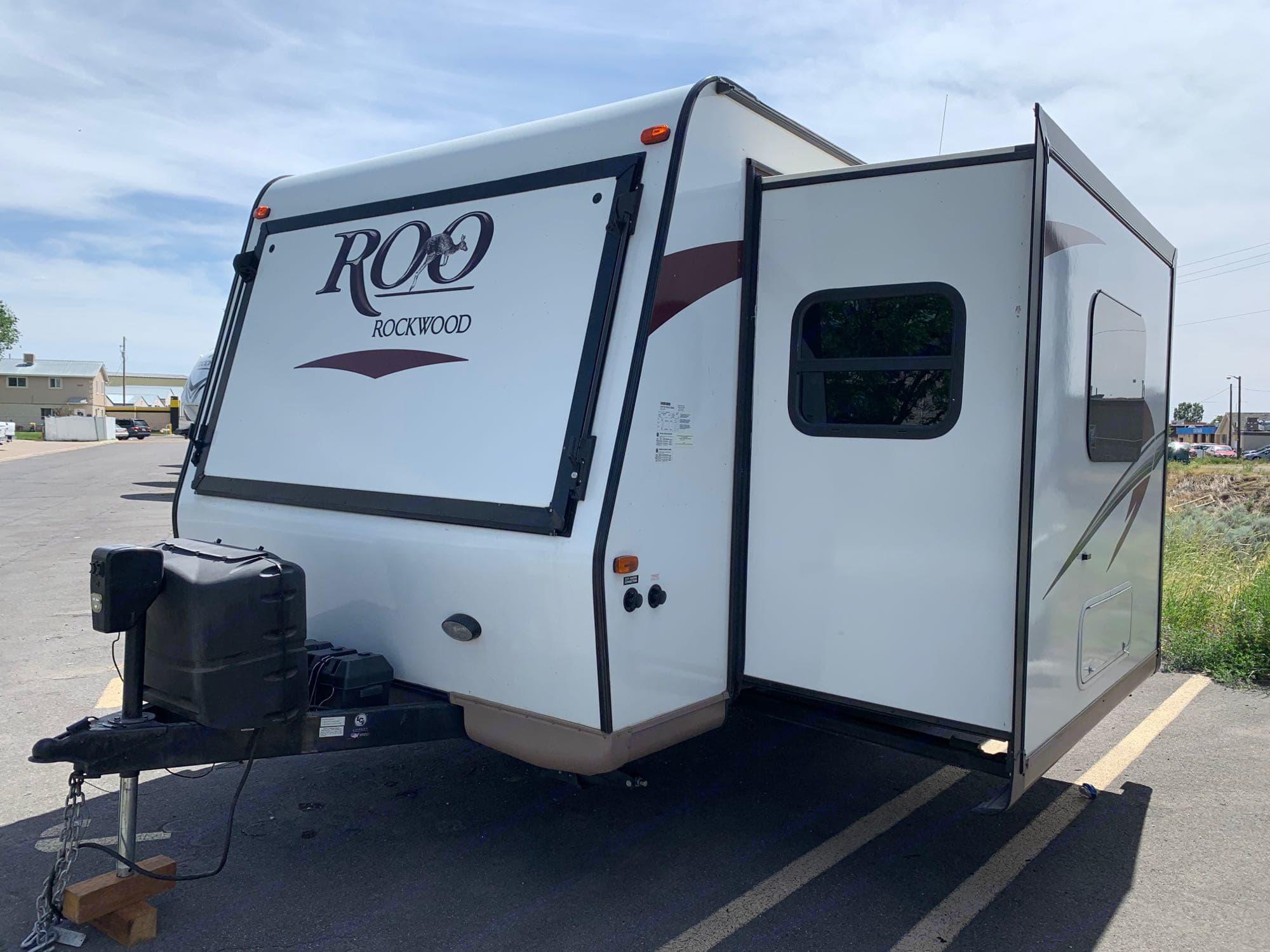 Slide out makes trailer feel roomier!. Forest River Rockwood Roo 2017