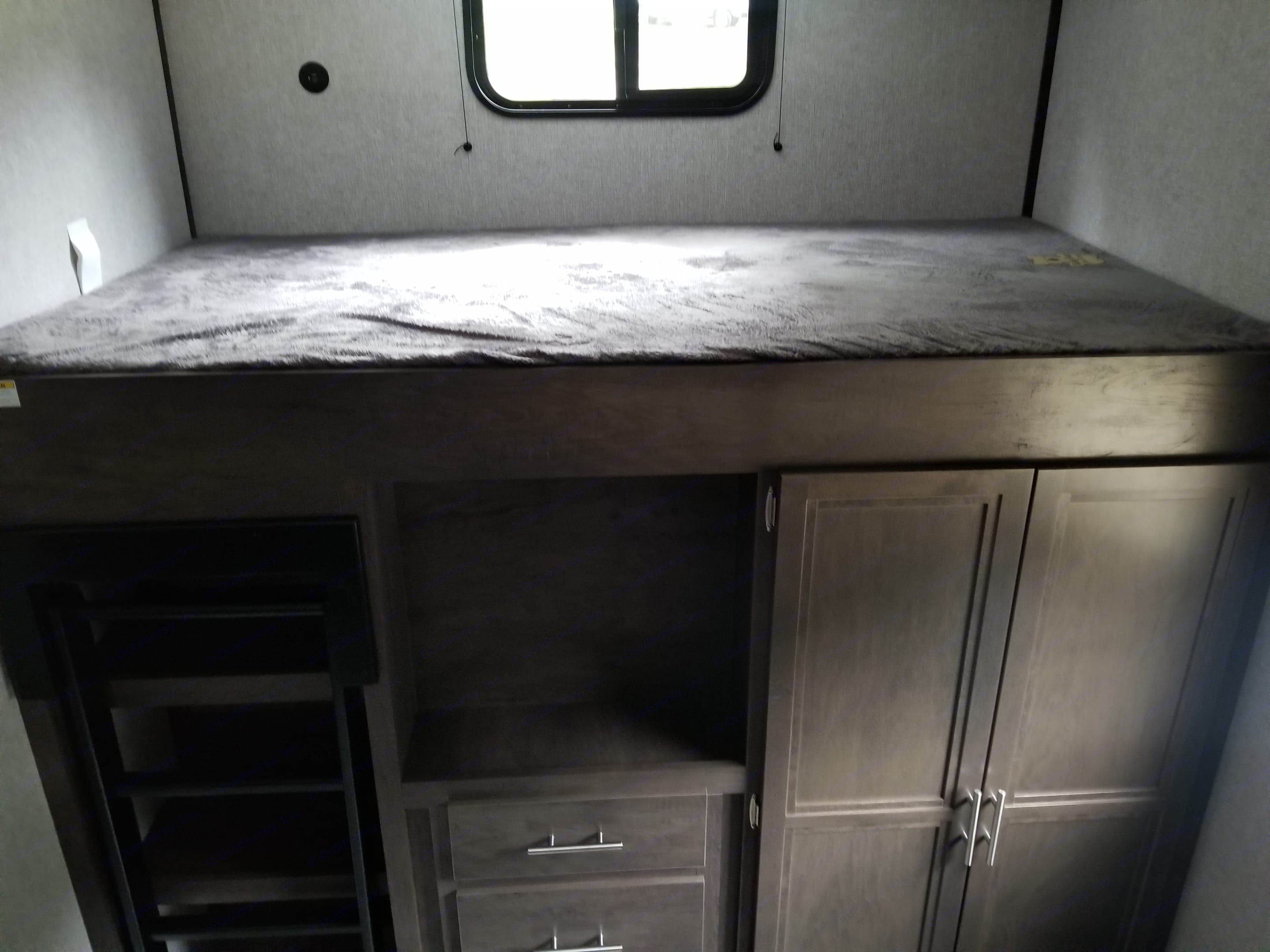 Bed and cabinets in back bedroom. Coleman Coleman Lantern 2020