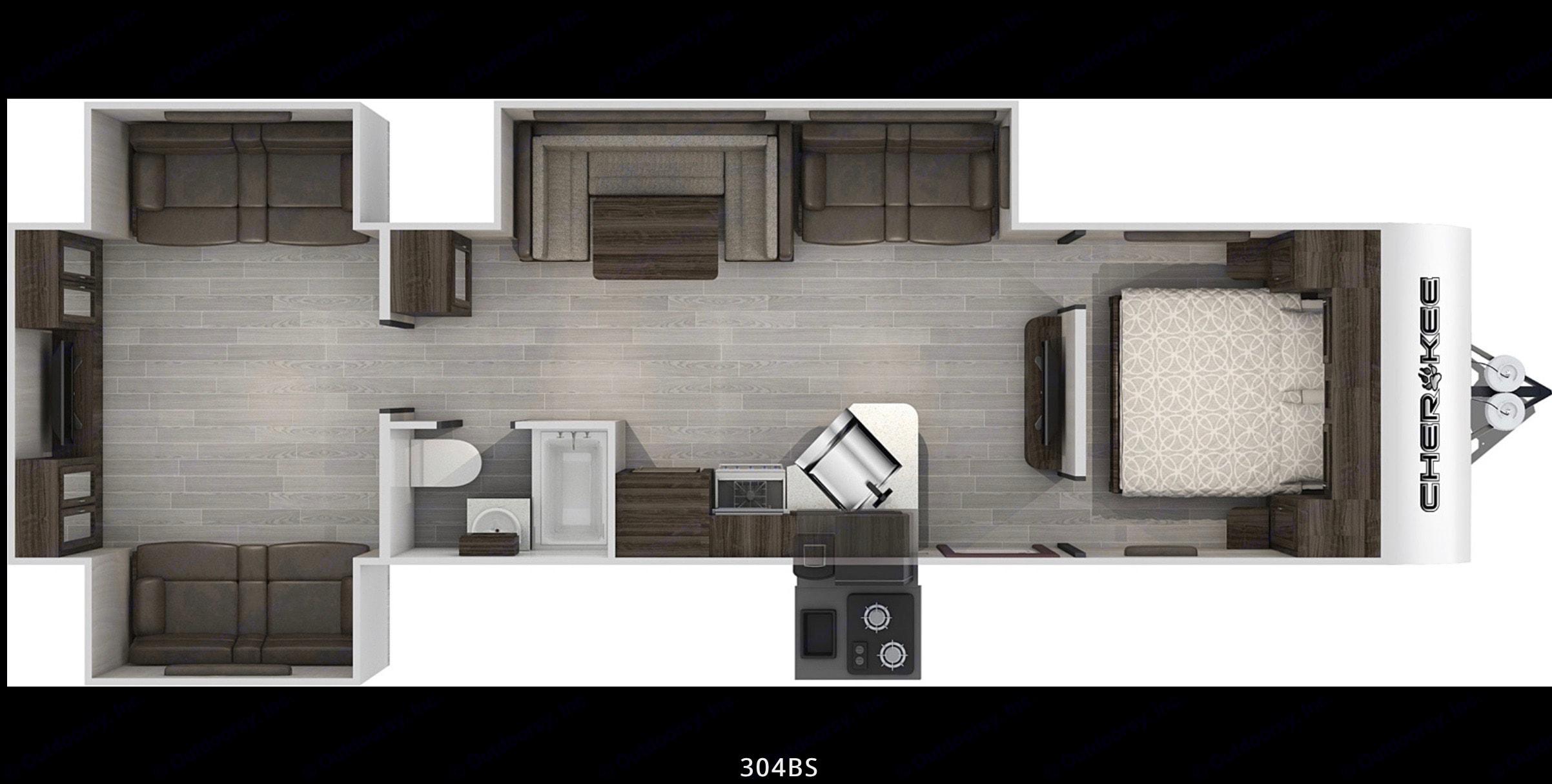 Floorplan. Forest River Cherokee 2020