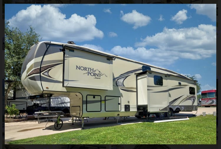 Back view. Jayco North Point 2018
