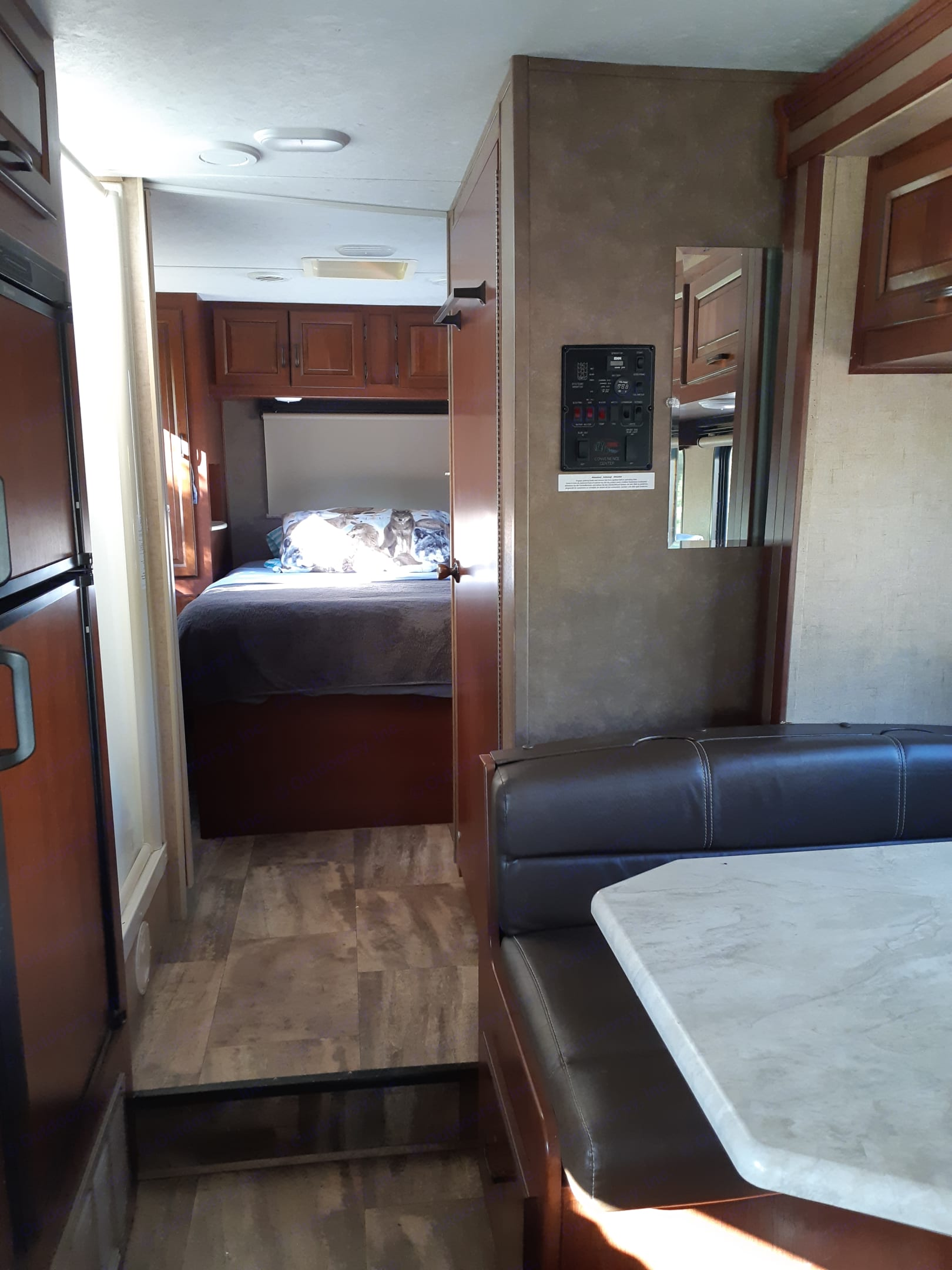 View into bedroom. Forest River Sunseeker 2016