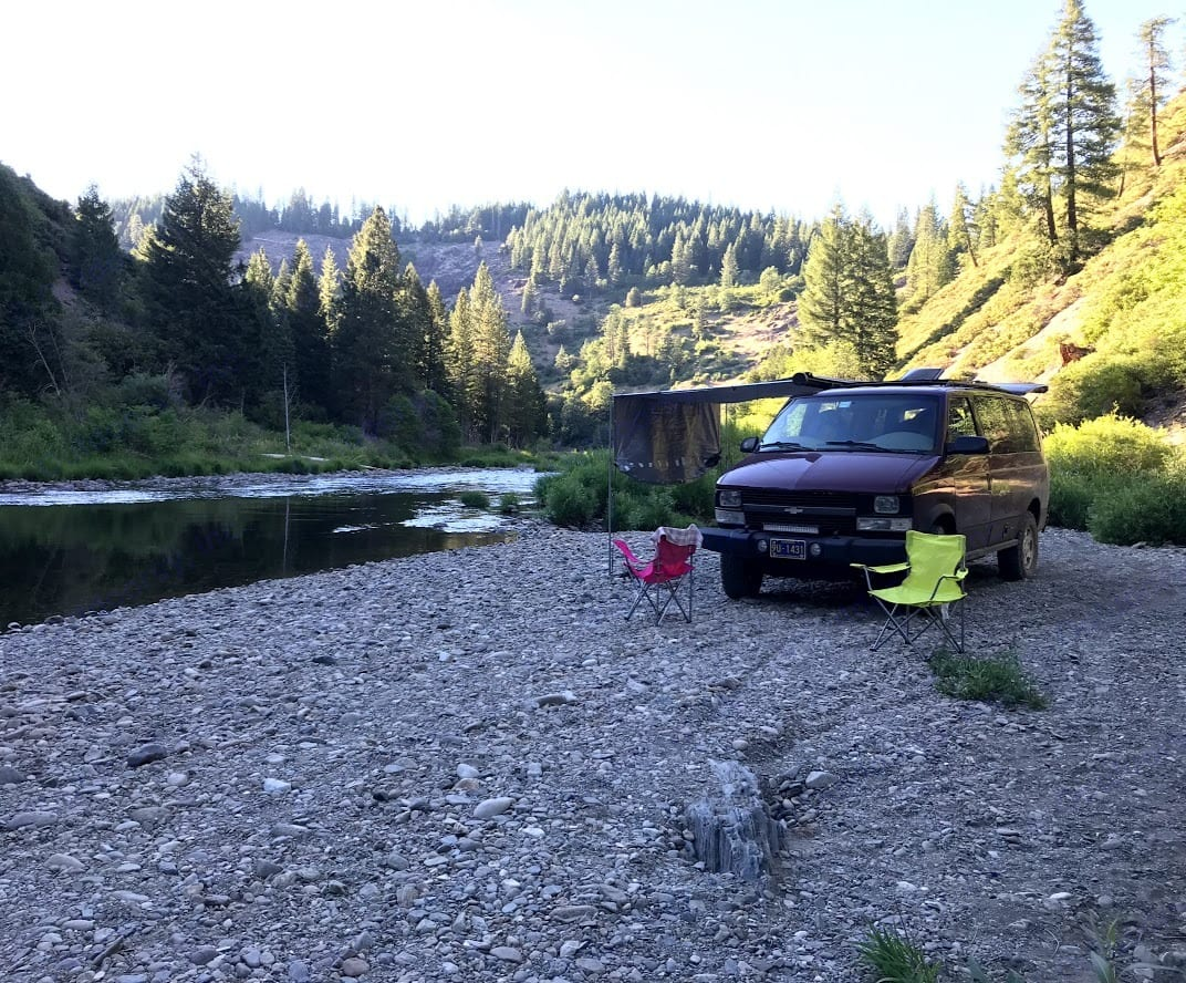 Camping by the River!. Chevrolet Astro 2004