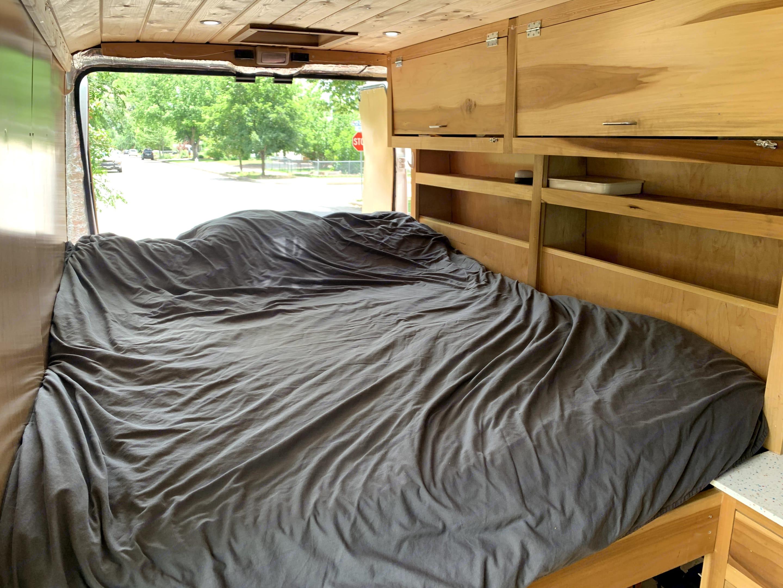 Memory foam queen bed. Linens/pillows provided.. Dodge B Van 2017