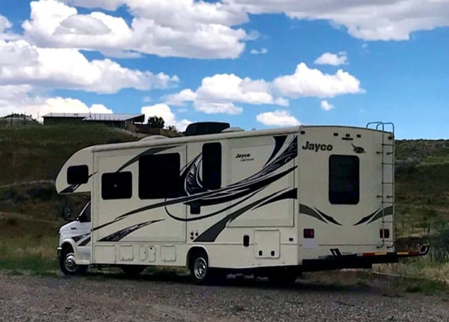 Home on the range! Wyoming to be exact! Exploring the country is so fun for the entire family.. Jayco Greyhawk 2017