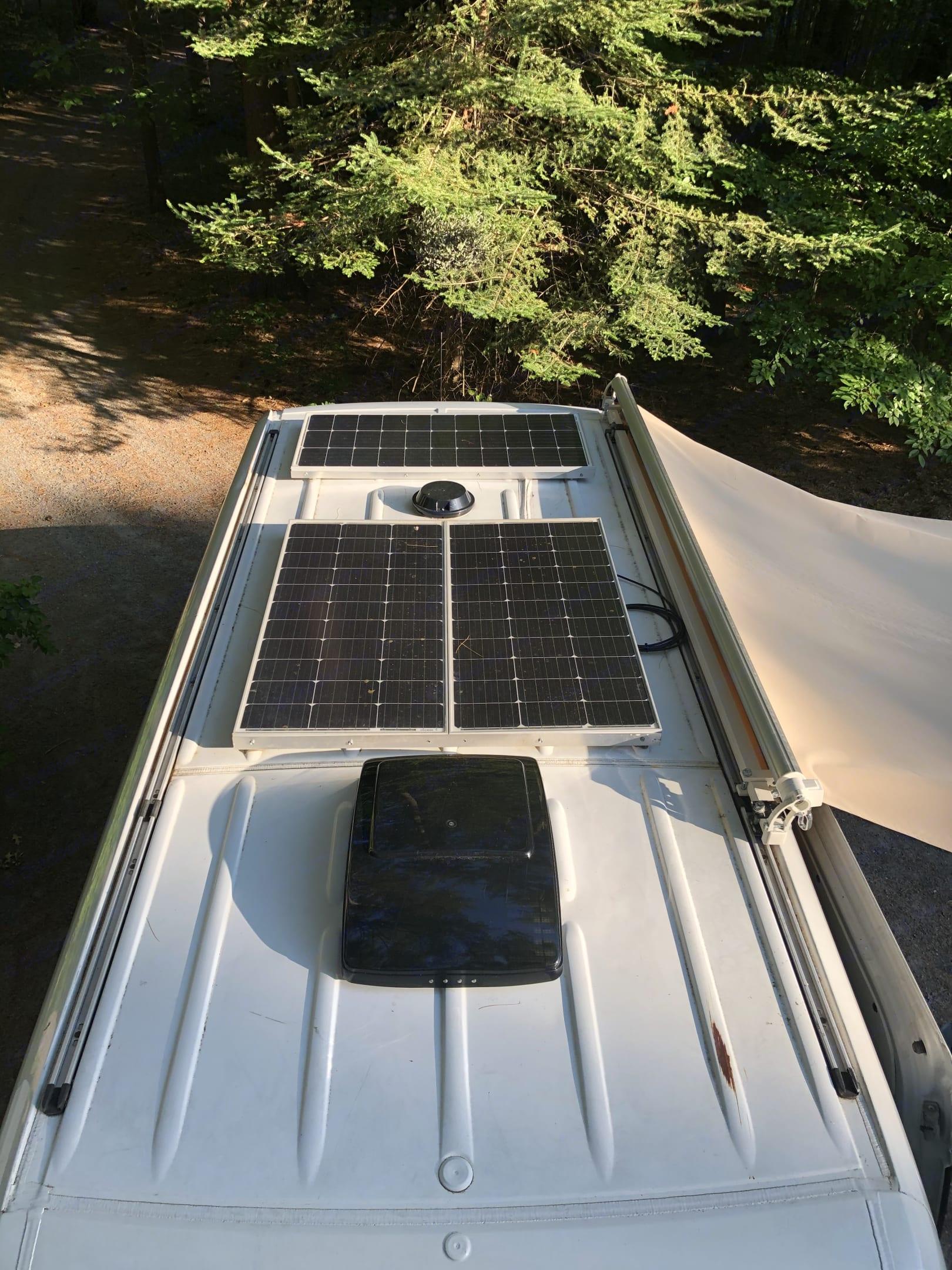 3 panel solar roof. Dodge Sprinter Van 2007