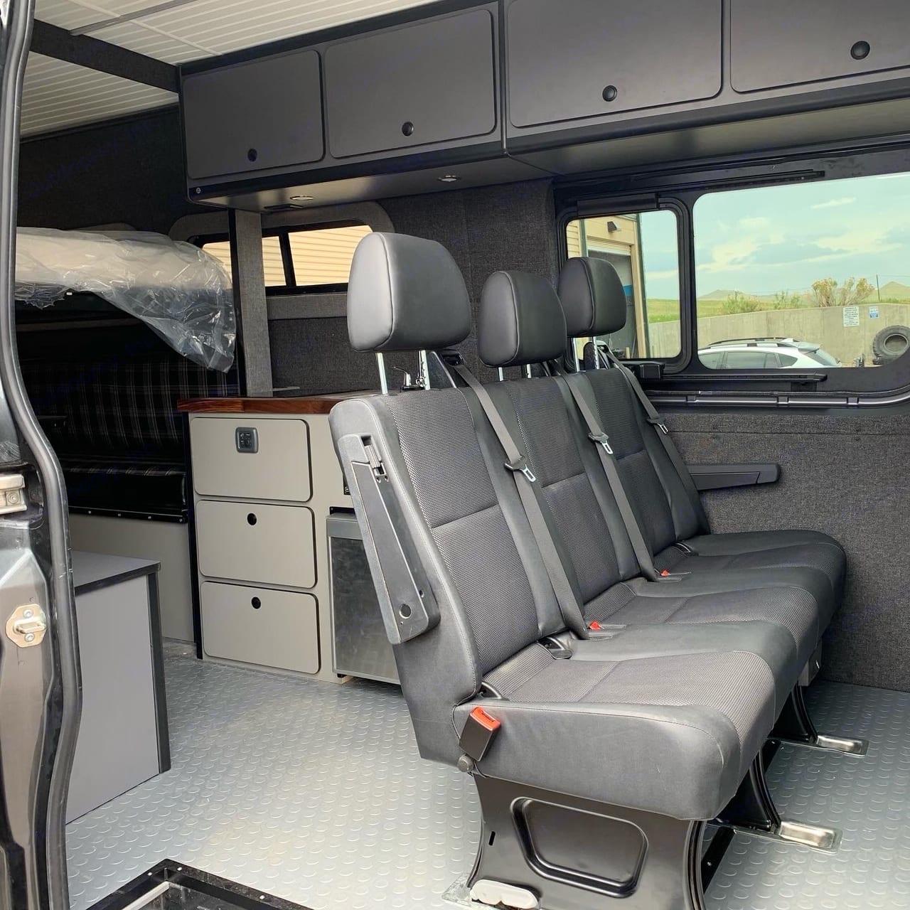 Removable 2nd row seat.. Mercedes-Benz Sprinter RV Motorhome Campervan 2016