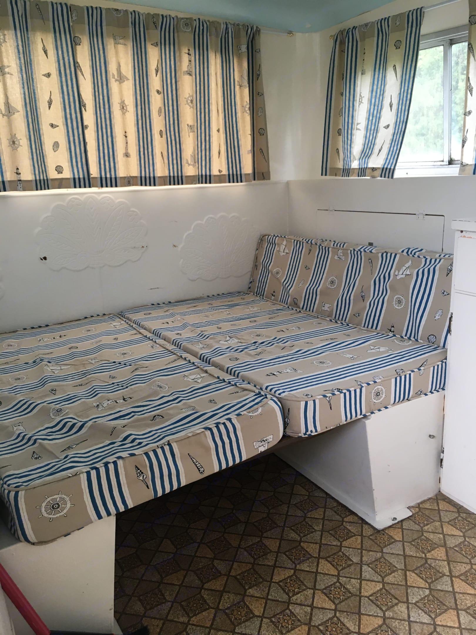 Dbl bed comes with egg foam mattress brand new in closet. Boler AerFlo 2140 1972