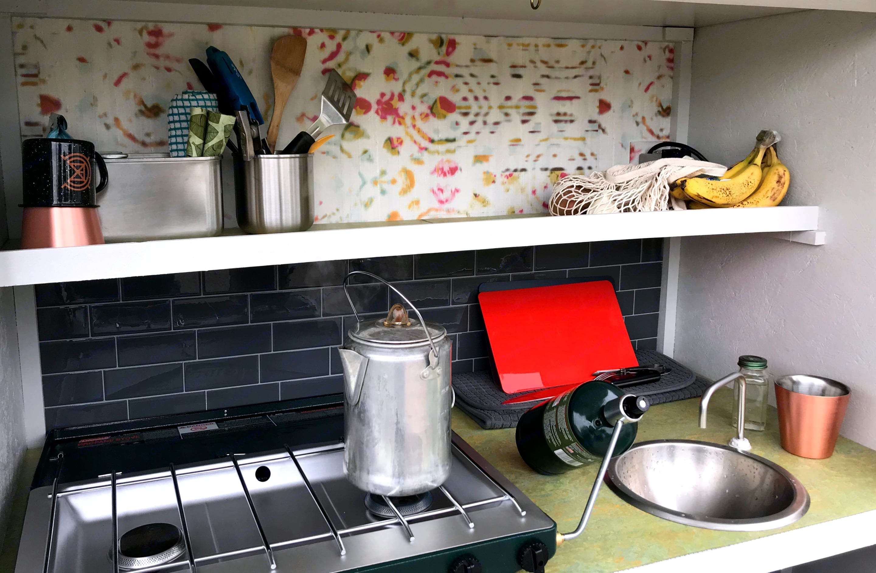 Plenty of room for meal prep, storage and clean-up with the foot-pump sink!. Other Other 2019