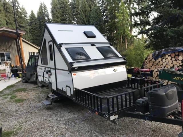 Nice deck for gear or bikes. ForestRiver RockwoodESP 2019