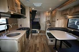 Nice, clean, functional interior. Mercedes-Coachmen Prism 2016