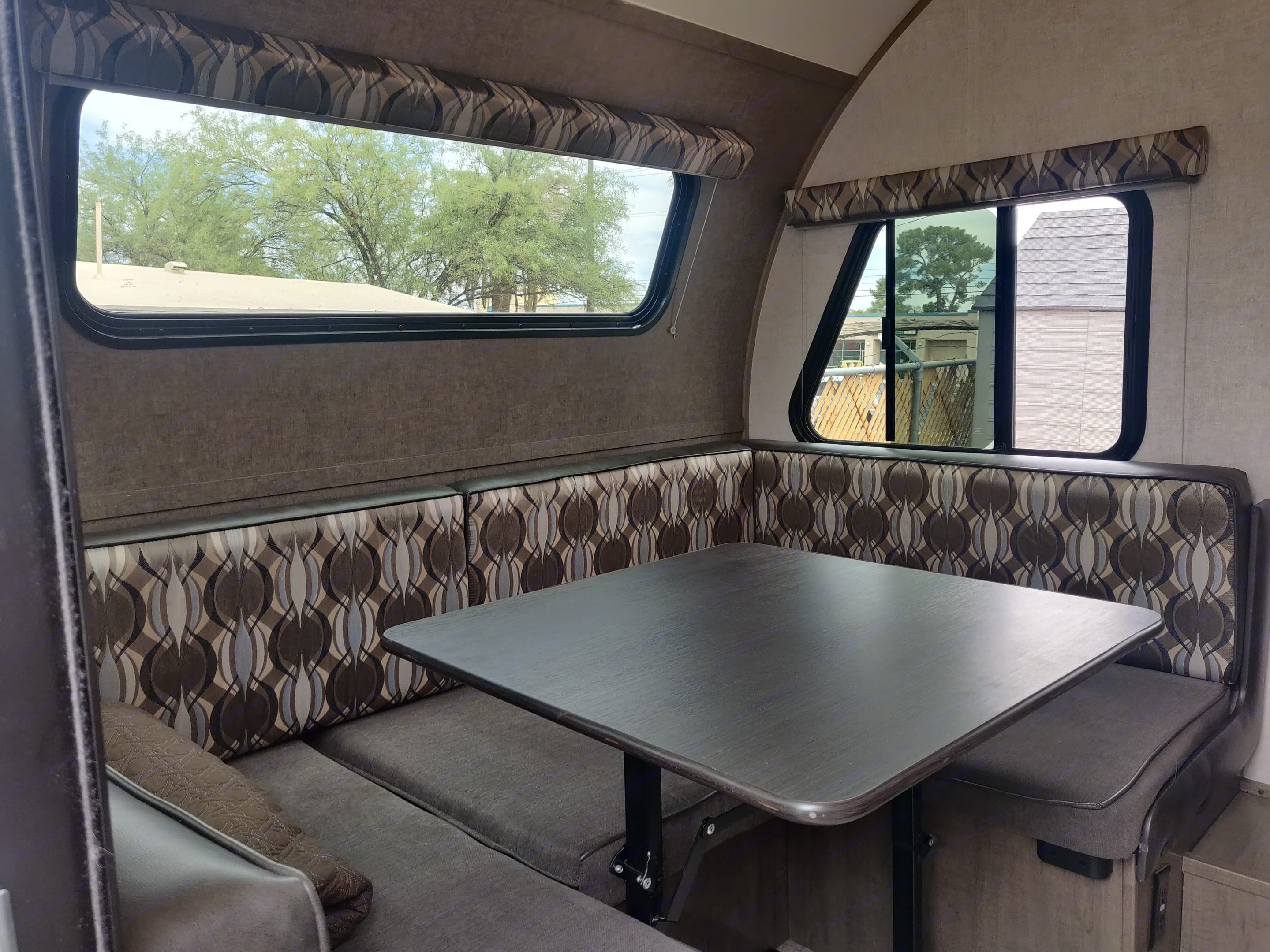 Large booth easily seats 4.. Forest River R-Pod 2019