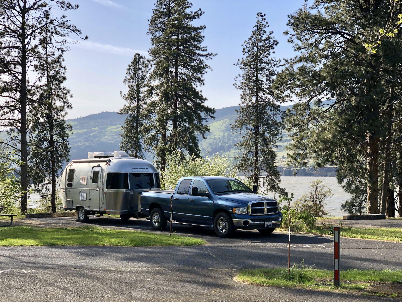 Memaloose State Park Campground in Mosier, Oregon. Airstream International 2016