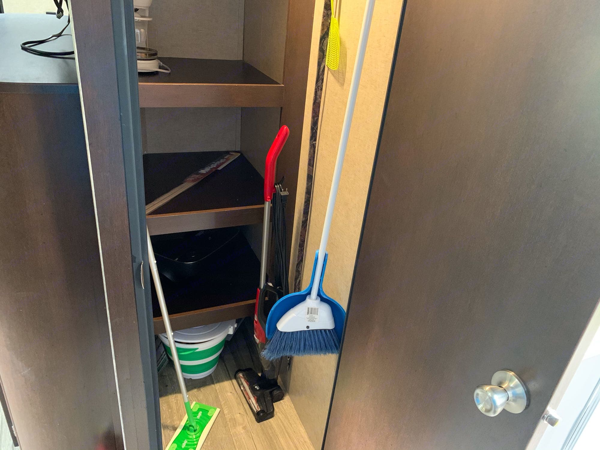 Walk-in pantry w/supplied cleaning tools and games for your camping adventure.. Forest River Cherokee Grey Wolf 2018