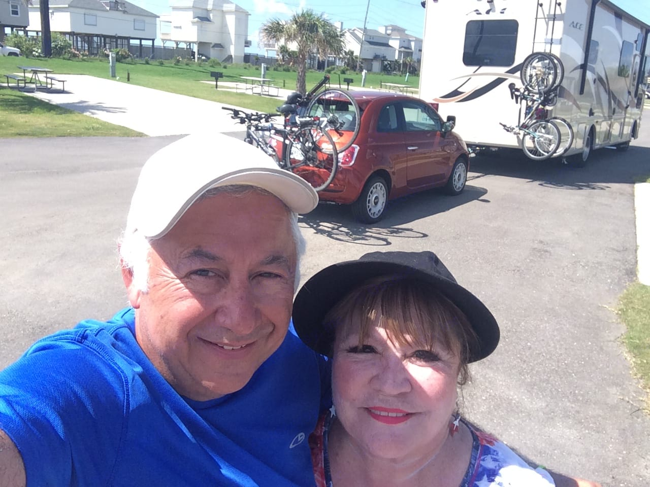 We were pulling our Fiat and 4 bikes!. Thor Motor Coach A.C.E 2016