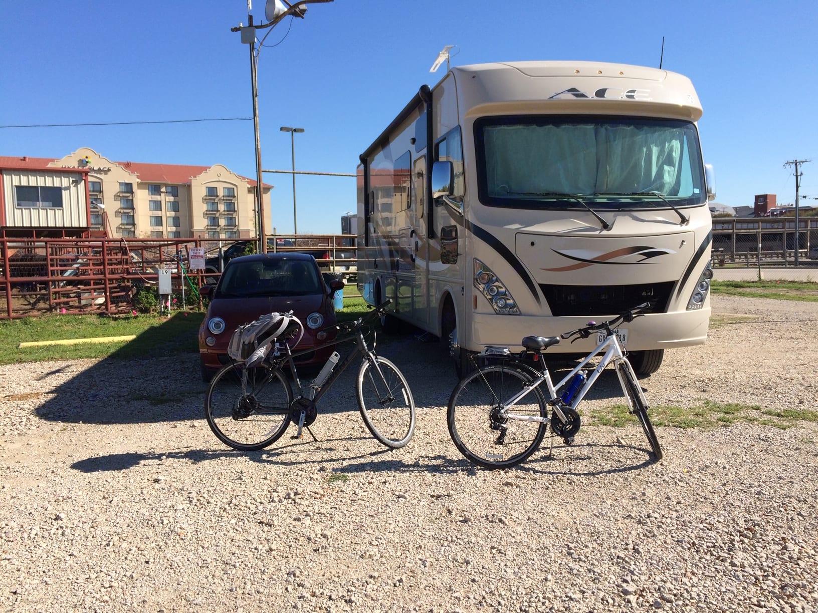 Galveston Island was fun with our 2 bikes!. Thor Motor Coach A.C.E 2016