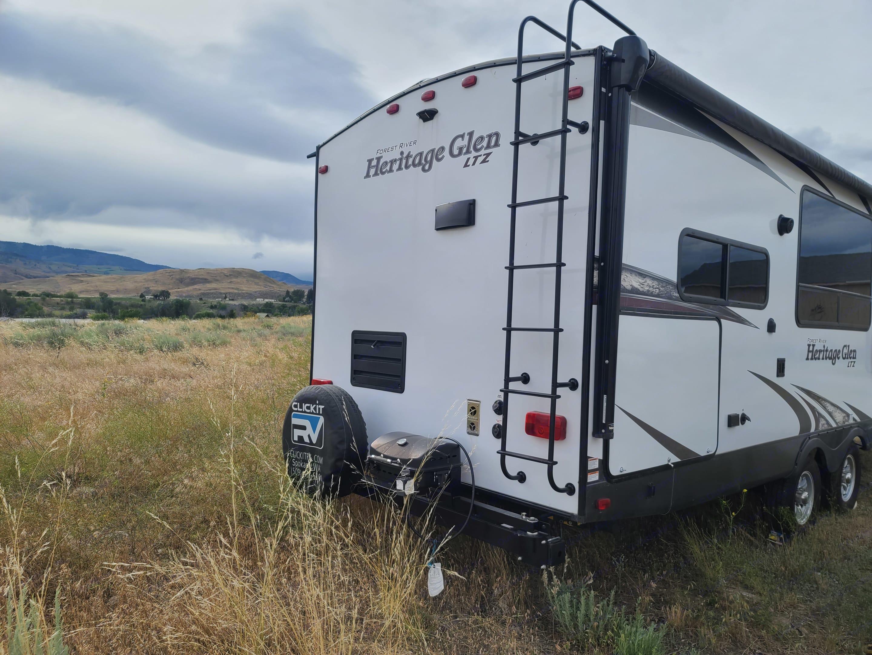 rear of trailer. Forest River Heritage Glen 2018