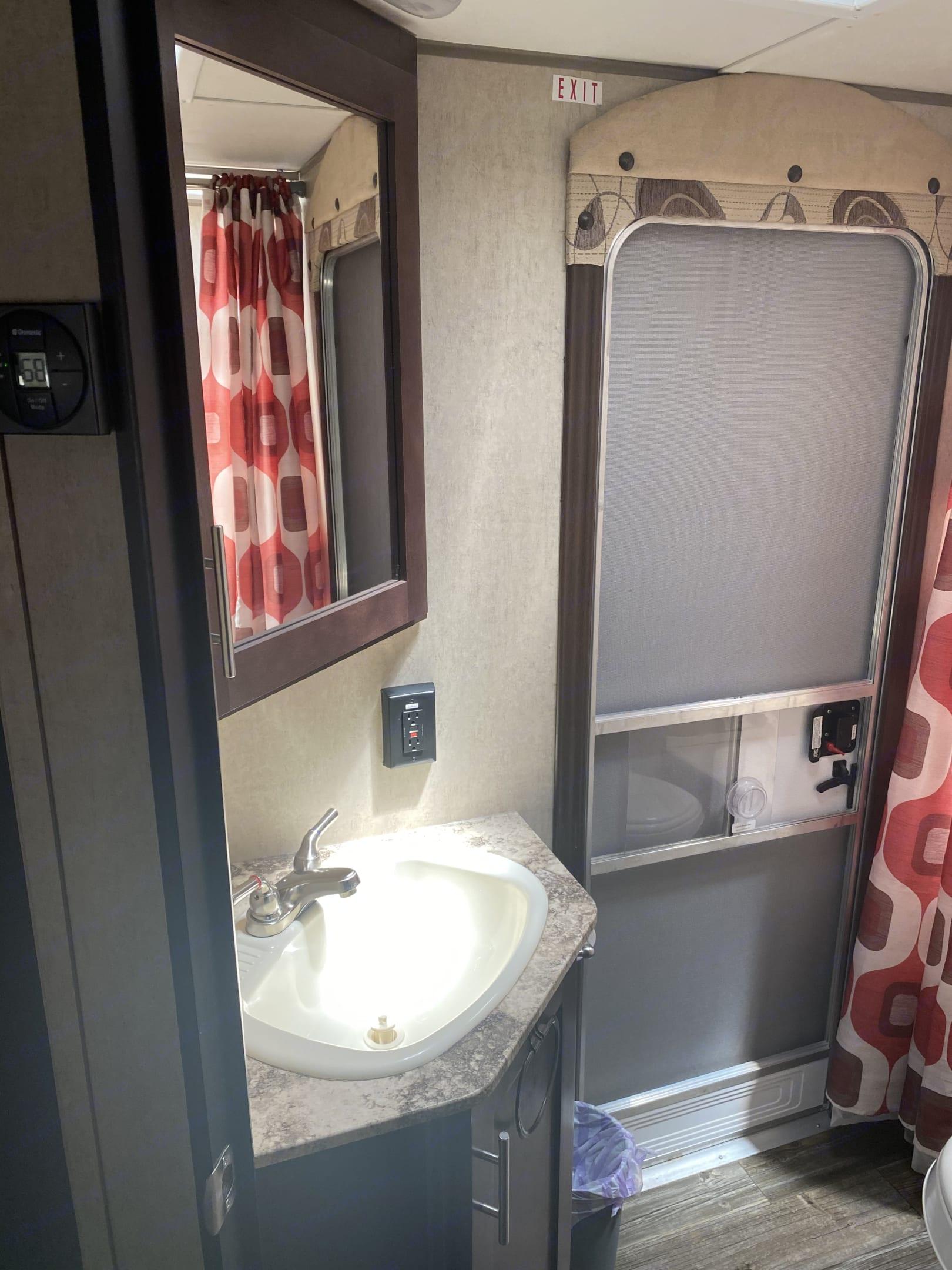 Bathroom sink. Forest River Cherokee 2016