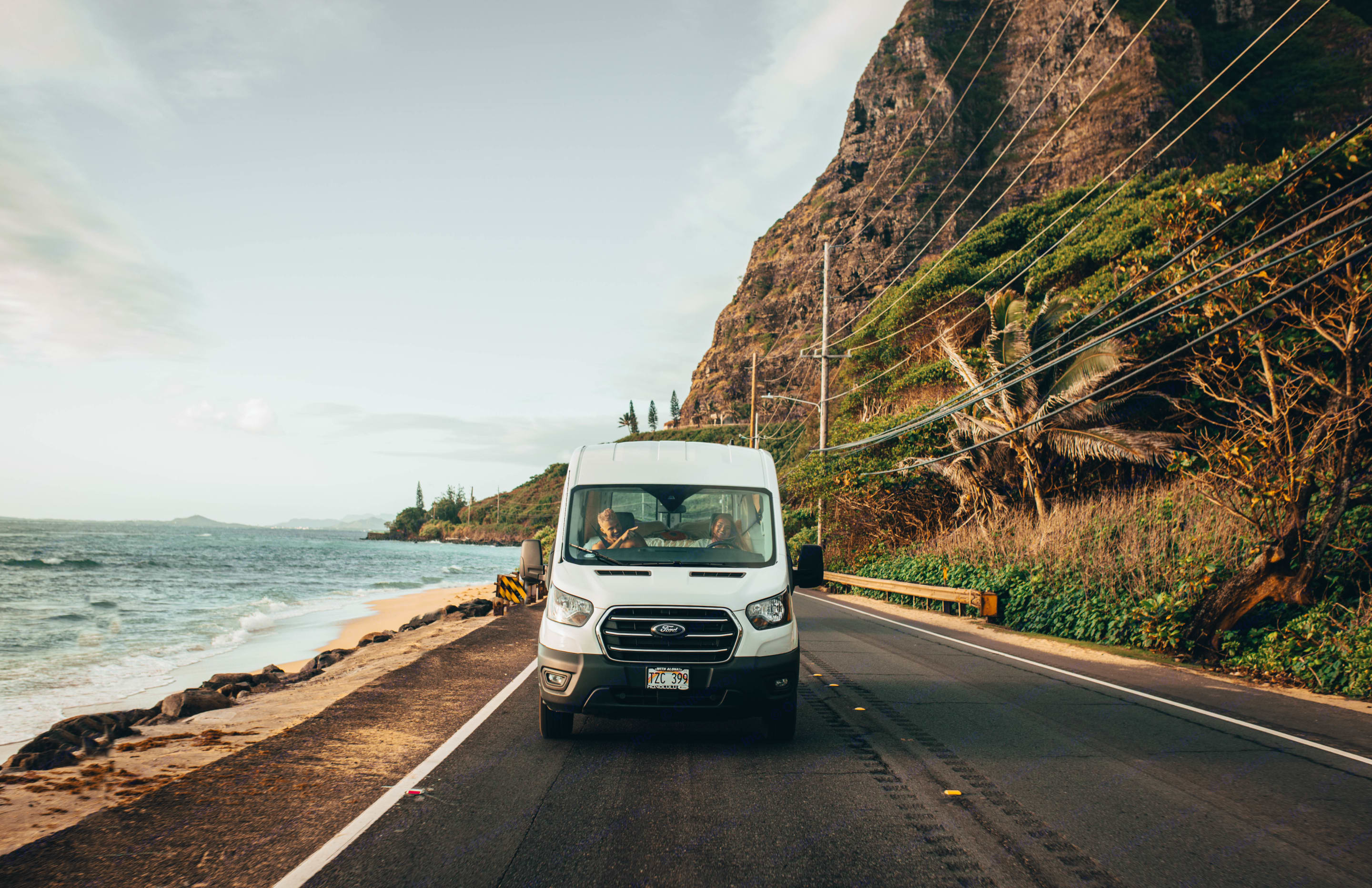 create your adventure. drive all over the coast of the heavenly island of Oahu. Ford Transit 2020