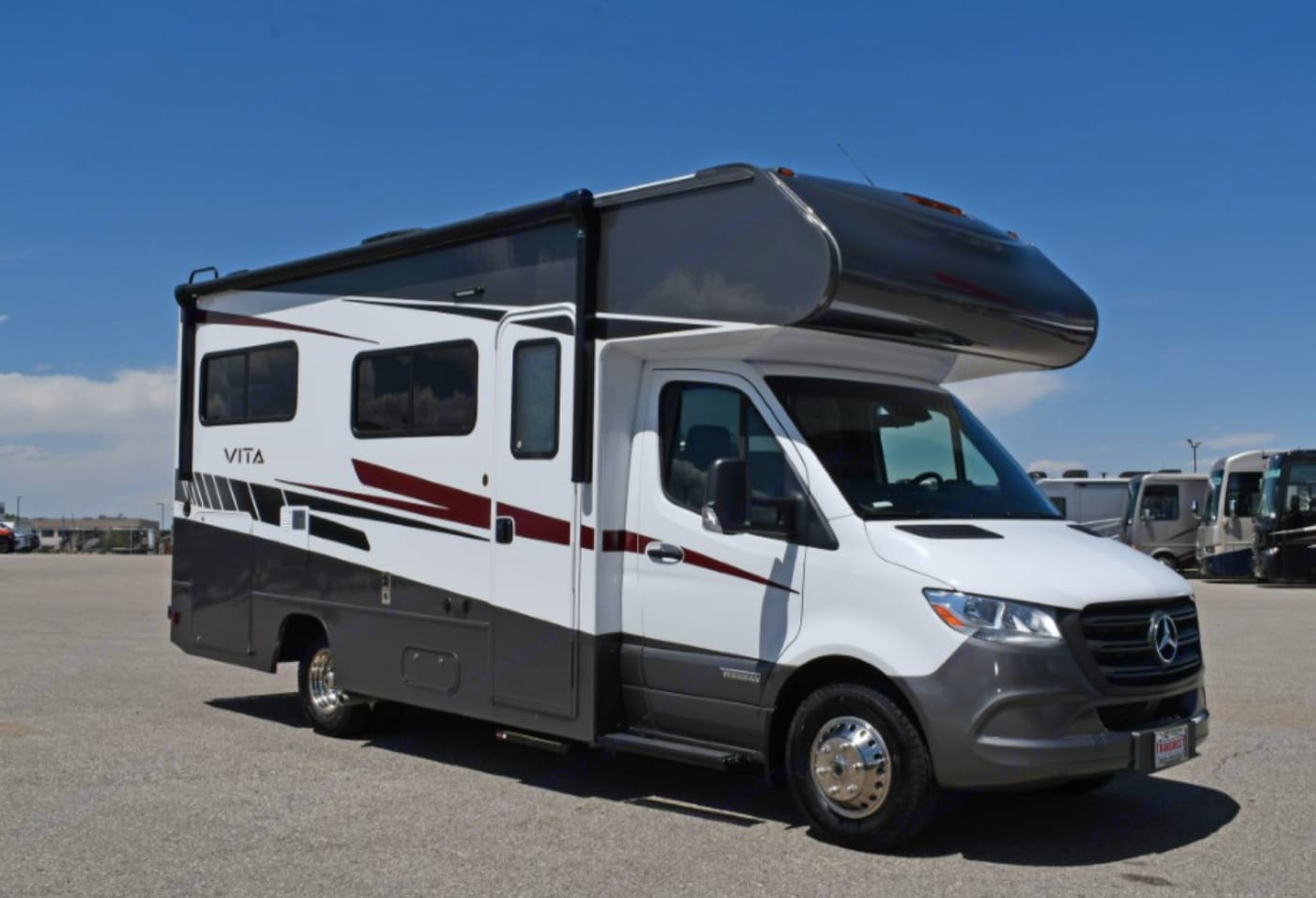 2020 Mercedes Benz Vita 24F Mercedes Benz chassis is a dream to drive on!  Back UP camera making backing up easy,  Navigation, voice activation and the all new designed 7 speed automatic transmission makes this RV so smooth and comfortable to drive!. Winnebago Vita 2020