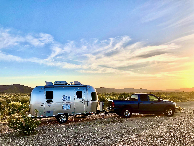Dome Rock BLM Upper Campsite in Arizona. Airstream International 2016
