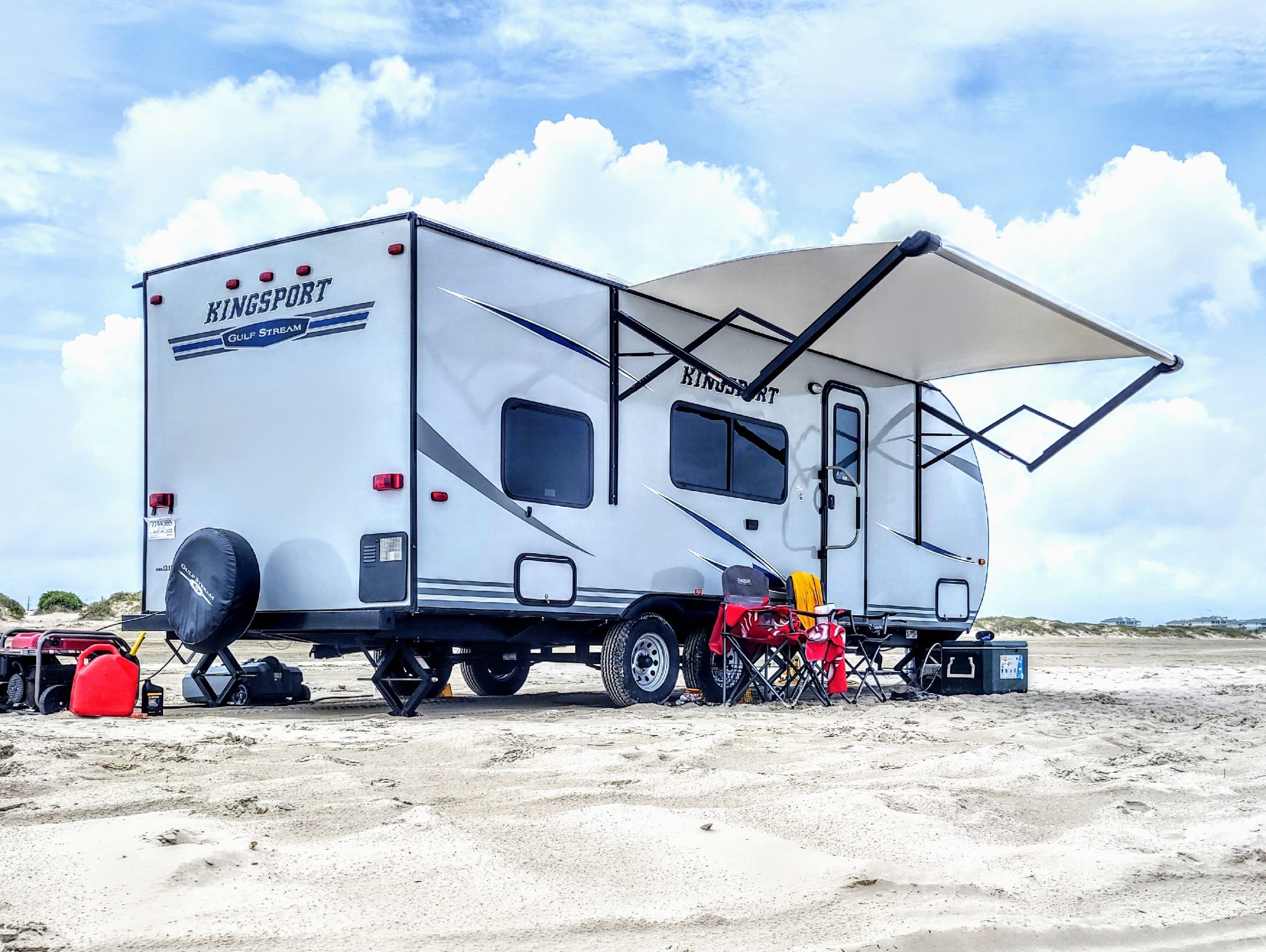 San Luis Pass, TX. Gulf Stream Kingsport 2020