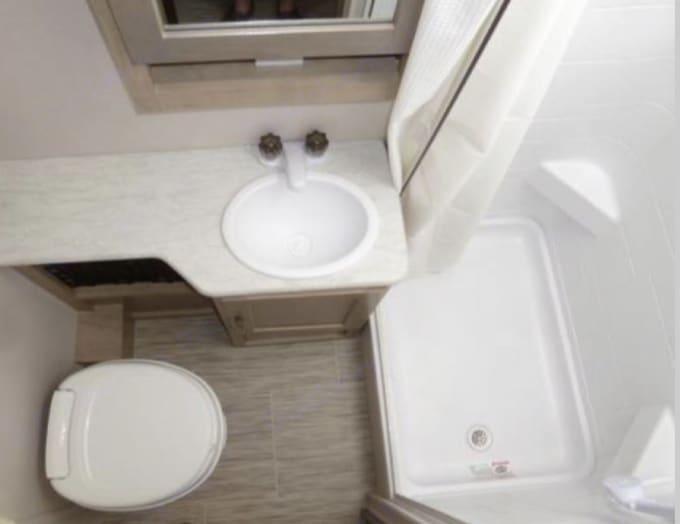 bathroom. Forest River R-Pod 2020