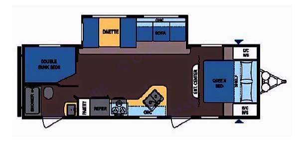 Floorplan. Coleman 263bh 2018