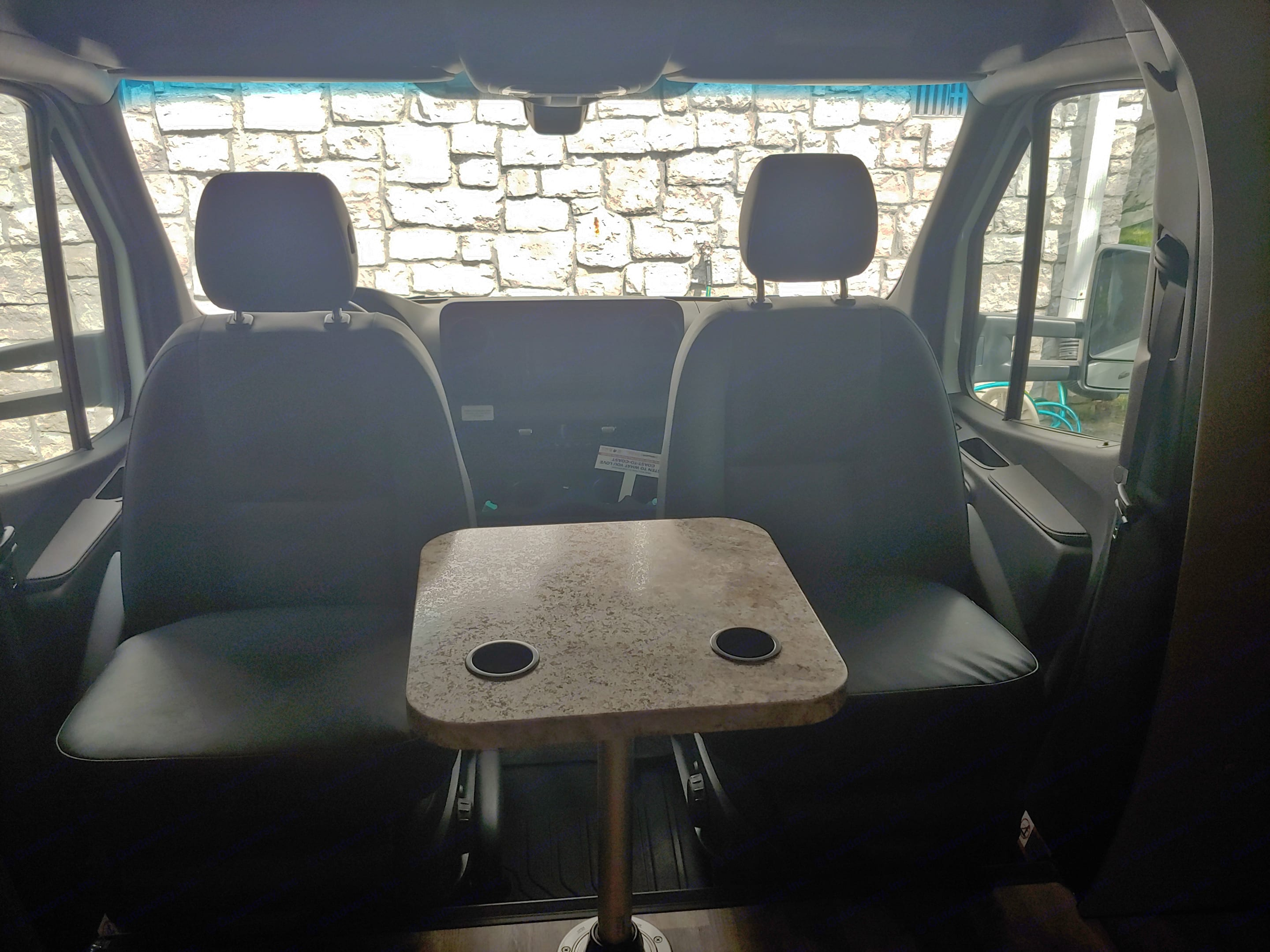 Captain seat spin to face the RV plus added table. Jayco Melbourne 2019