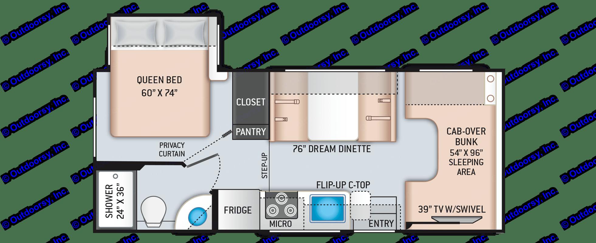 Great floorplan, walk around bed, large bathroom. Thor Motor Coach Other 2019