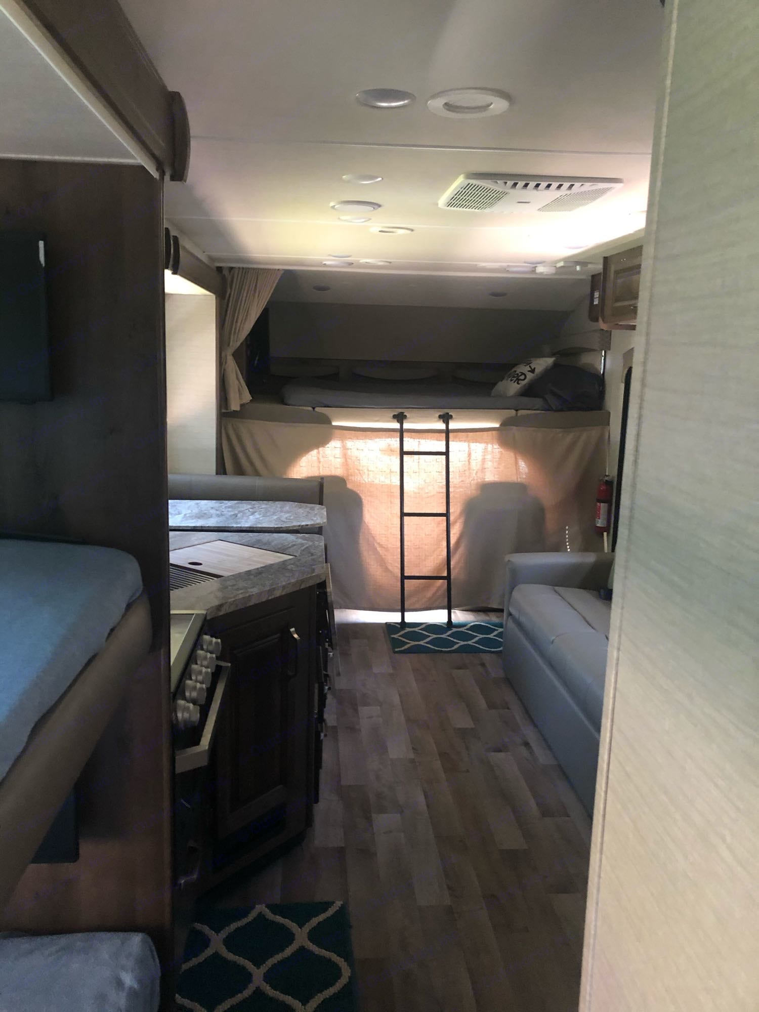 view from the back of the motorhome. Jayco Greyhawk 2019