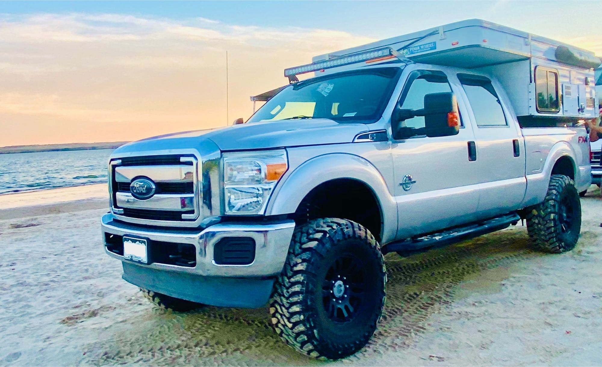 On the beach. Four Wheel Campers Hawk 2019