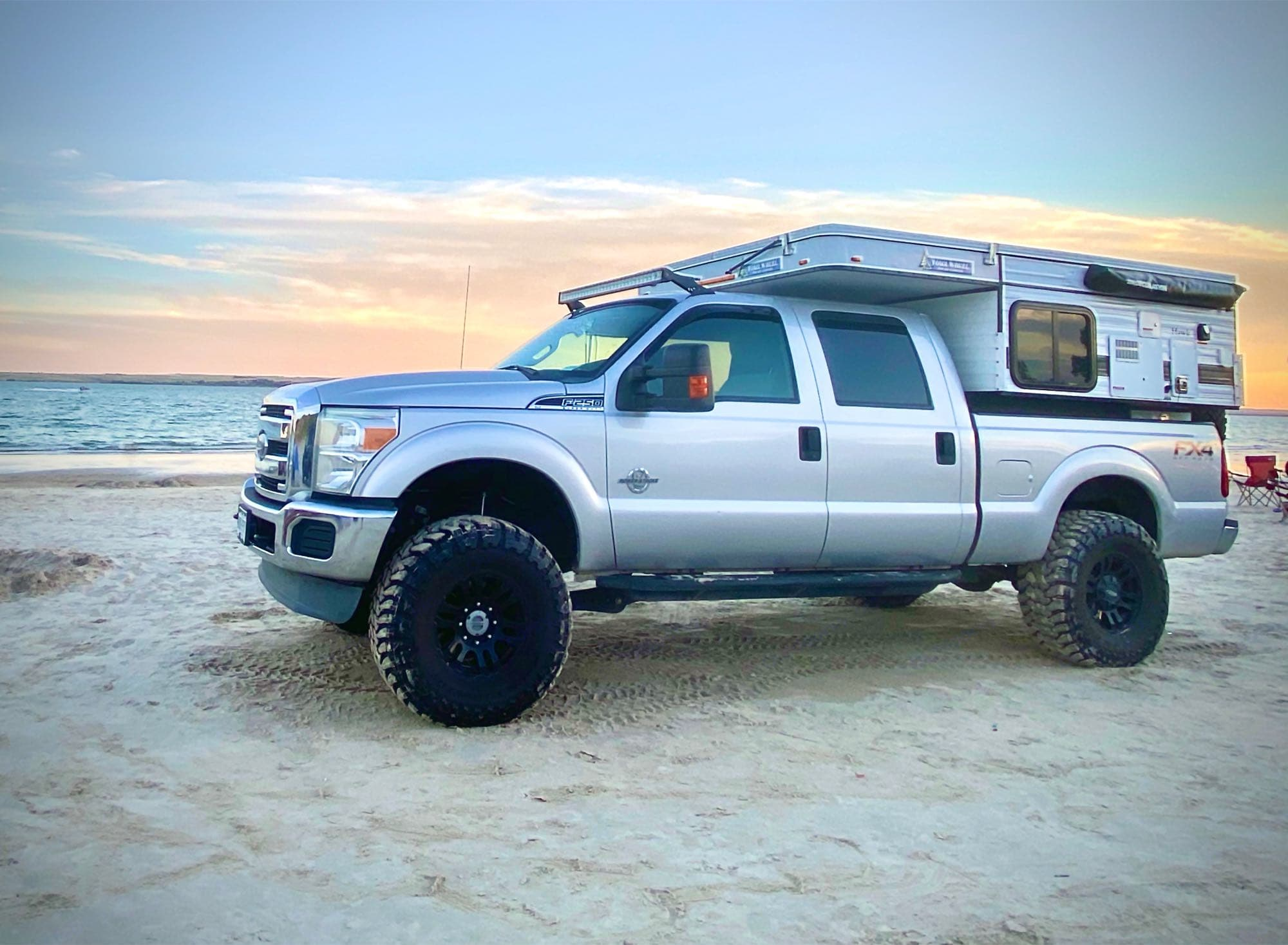 At the beach. Four Wheel Campers Hawk 2019