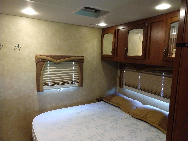 Master bedroom in rear. Jayco Greyhawk 2012