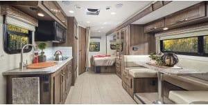 Nice kitchen, bathroom and bedroom at back.. Jayco Melbourne 2020